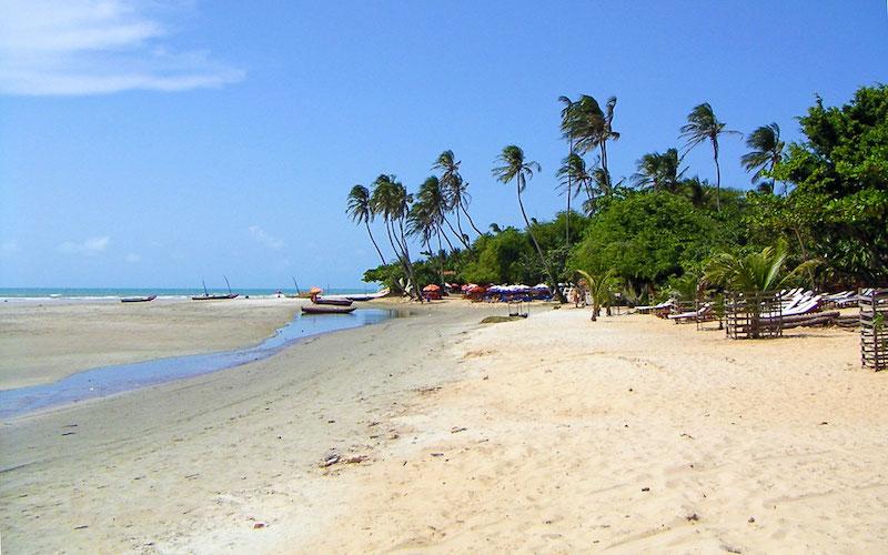 Praia de Jericoacoara perto de Fortaleza