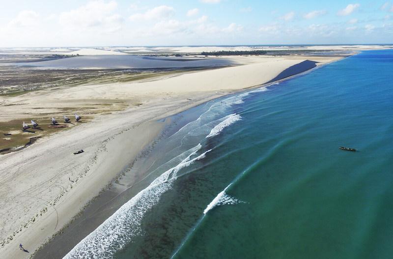 Praia de Jericoacoara - vista aérea